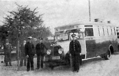 Autobusy markiBrockway z napisem